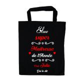 """Tote bag """"Super Maitresse"""" Personnalisable"""