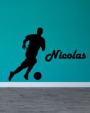 Stickers Prénom Football