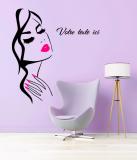 Stickers Visage Femme Personnalisé