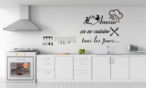 Stickers mural Amour Cuisine