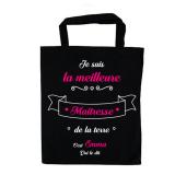 """Tote bag """"Meilleure Maitresse"""" Personnalisable"""