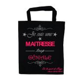 """Tote bag """"Maitresse trop Géniale"""" Personnalisable"""